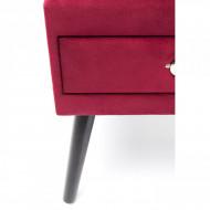 Nachtkastje Rood Fluweel