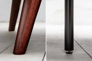 Retro 3-zitsbank DIVANI 215 cm zilvergrijs fluwelen met slaapfunctie