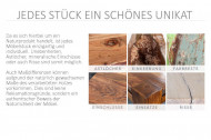 Salontafel Sheeshamhout zoals tv meubel CUBUS 100 cm tv-plank met sheeshamsteen afwerking