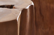 Stevige bijzettafel TEAK 40 cm teak hout
