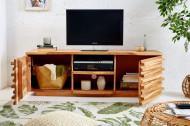 Tv meubel massiev Acaciahout RELIEF 150 cm met een uitgebreid front