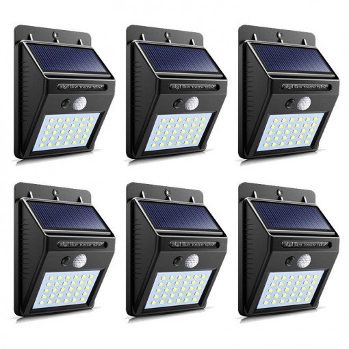 Lampa solara 30 LED, senzor de miscare - set 6 bucati