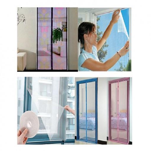 Perdea magnetica anti insecte, colorata + Plasa pentru fereastra