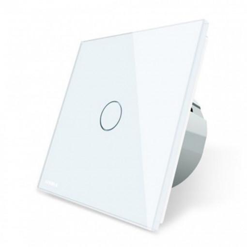 Intrerupator touch simplu, cu panou de sticla