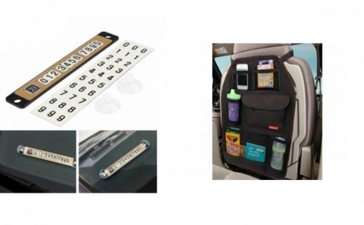 Set 2x Organizator auto + Placuta magnetica telefon