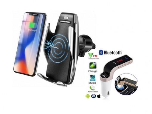 Incarcator auto wireless + Modulator FM