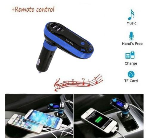Kit Auto Bluetooth Wireless HandsFree Modulator FM, USB, SD