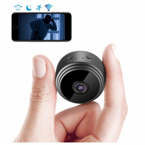 Mini camera video Wi-Fi 1080p HD, unghi 150, Senzor de miscare