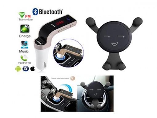 Modulator bluetooth + Suport telefon Smiley
