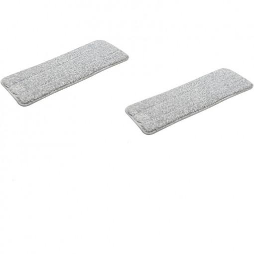 Set 2 rezerve pentru mop plat, Microfibra