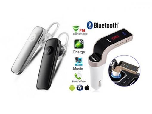 Casca Bluetooth + Modulator FM Auto MP3 Bluetooth