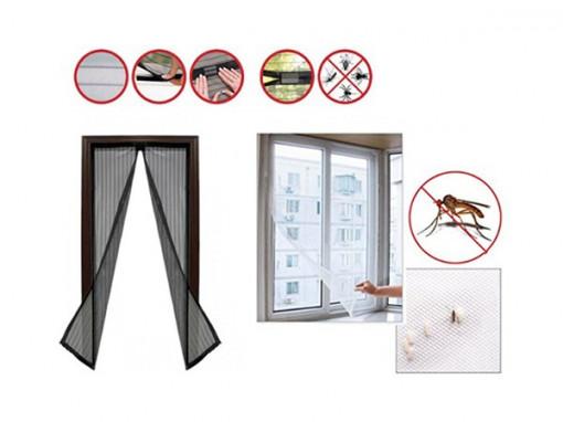 Perdea anti insecte cu inchidere magnetica + Plasa geam
