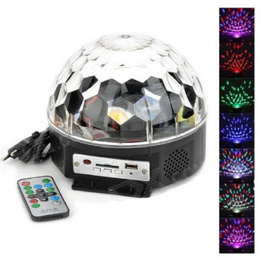 Proiector Disco Led Magic Ball cu telecomanda si Redare Audio MP3