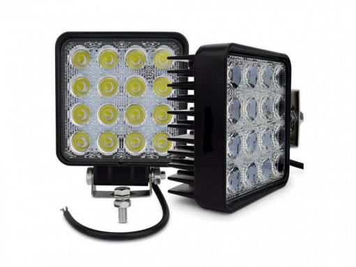 Set 2 proiector LED auto offroad 48W
