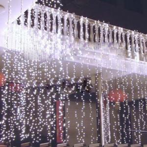 Instalatie de Craciun Tip Perdea 3 m x 3 m, 400 LED Alb rece