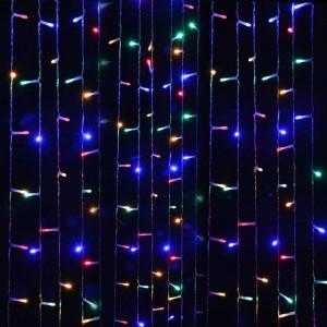 Instalatie de Craciun Tip Perdea 6 m x 1 m, 264 LED MULTICOLOR