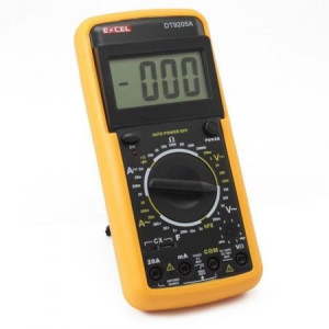 Multimetru digital DT 9205A prevazut cu carcasa antisoc!