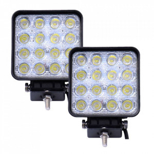 2 x Proiector auto 16 LED , 48W