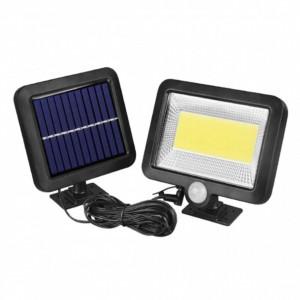Lampa LED COB cu panou solar si senzor de miscare