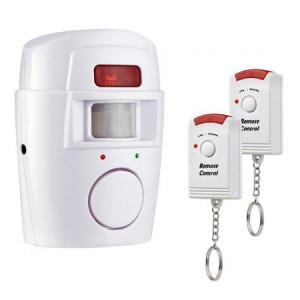 Sistem alarma wireless cu 2 telecomenzi, distanta detectie 7 metri