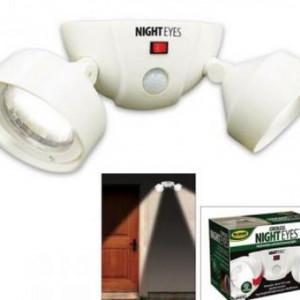 2 becuri pivotante LED cu senzor Night Eyes