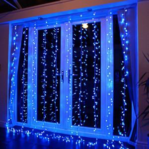 Instalatie de Craciun Tip Perdea 5 m x 1 m, 240 LED ALBASTRU