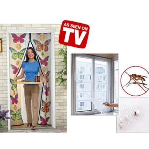 Perdea magnetica anti insecte model fluturi + Plasa de geam