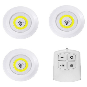 Set 3 lampi led wireless cu telecomanda