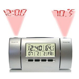 Ceas cu dubla proiectie: Ora si Temperatura