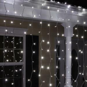 Instalatie de Craciun Tip Perdea 3 m x 1 m, 132 LED ALB RECE