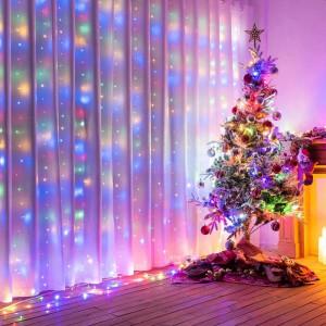 Instalatie de Craciun Tip Perdea 3 m x 3 m, 400 LED Multicolor
