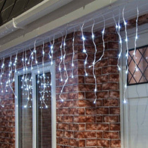 Instalatie franjuri 21 metri, 600 LED Alb Rece
