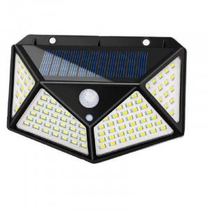 Lampa solara 100 LED, senzor de miscare