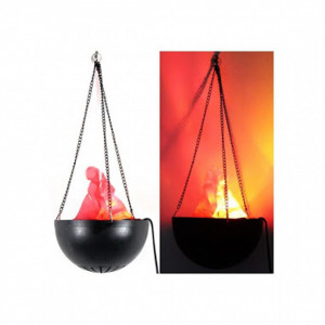 Set 2 x Lampa cu flacara falsa, suspendata cu lant