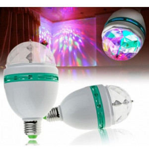Set 3 becuri rotative multicolore disco LED