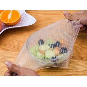 Set 4 folii refolosibile pentru alimente Stretch and Fresh