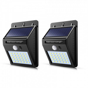 Lampa solara 30 LED, senzor de miscare - set 2 bucati