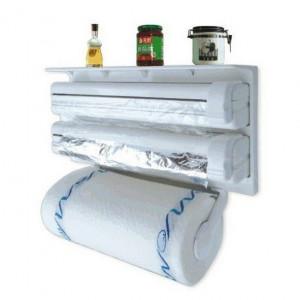 Triplu dispenser de bucatarie - hartie, folie aluminiu si folie stretch
