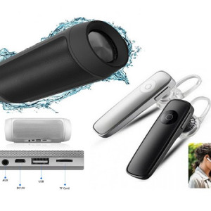 Boxa bluetooth 15W + Casca Bluetooth