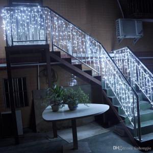 Instalatie de Craciun Tip Perdea 6 m x 1 m, 264 LED ALB RECE