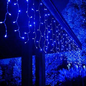 Instalatie de Craciun Tip Perdea 8 m x 1 m, 384 LED ALBASTRU