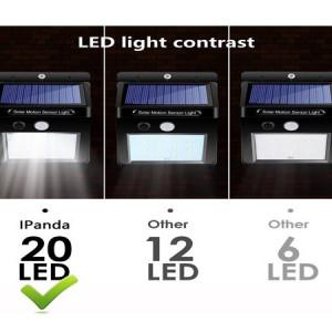 Lampa 20 led, senzor de lumina si miscare