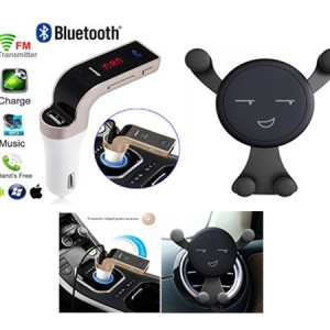 Modulator bluetooth + Suport telefon Smiley
