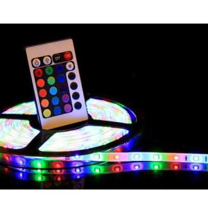Set 2x banda LED, cu telecomanda si joc de lumini