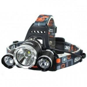 Lanterna de cap cu 3 LED-uri puternice