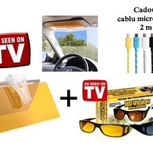 Set parasolar + ochelari de zi si noapte  + cablu USB