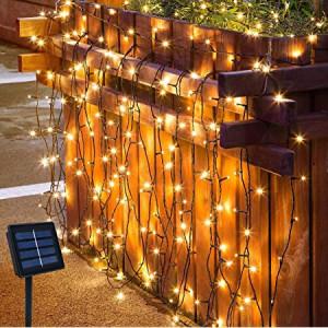 Ghirlanda solara 30 metri lungime, 300 LED-uri Alb Cald