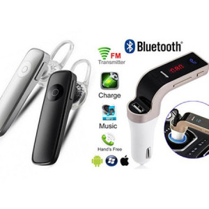 Casca Bluetooth + Modulator FM Auto MP3 Bluetooth