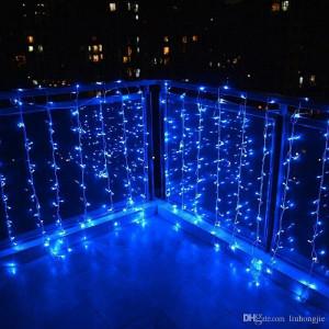 Instalatie de Craciun Tip Perdea 3 m x 1 m, 132 LED ALBASTRU