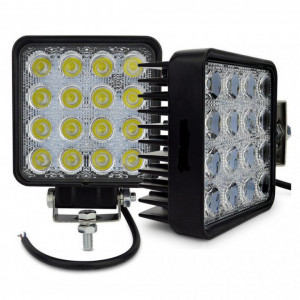 Set 2 proiector LED auto offroad 48W